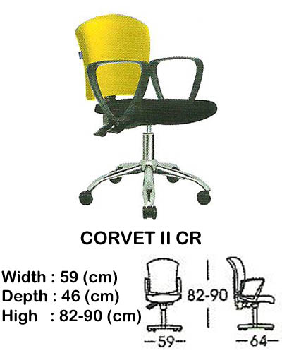 kursi staff & secretary indachi corvet II cr