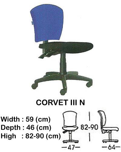 kursi staff & secretary indachi corvet III n