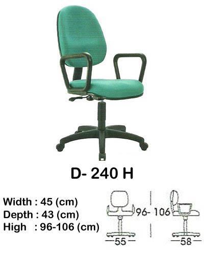 kursi staff & secretary indachi d- 240 h