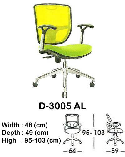 kursi staff & secretary indachi d-3005 al