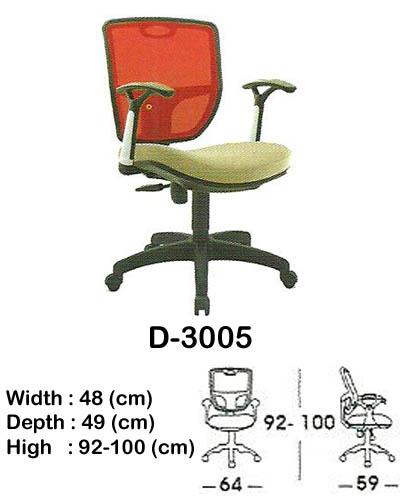 kursi staff & secretary indachi d-3005