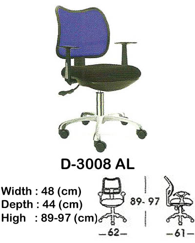 kursi staff & secretary indachi d-3008 al