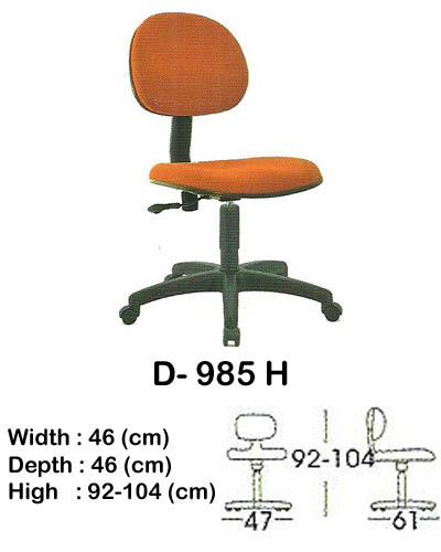 kursi staff & secretary indachi d- 985 h