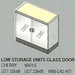 lemari arsip pendek 2 pintu kaca bagian bawah uno platinum series