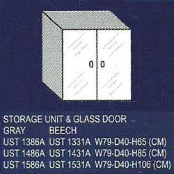 lemari bagian atas 2 rak dan pintu kaca uno classic series