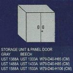 lemari bagian atas 2 rak dan pintu panel uno classic series