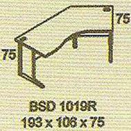 meja kantor modera bsd 1019r