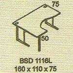 meja kantor modera bsd 1116l