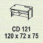 meja kantor modera cd 121