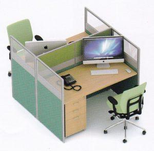 Partisi Kantor Uno 01 Series Slim 2 Staff