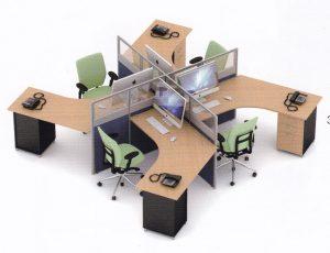 Partisi Kantor Uno 05 Series Slim 4 Staff