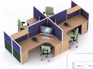 Partisi Kantor Uno 08 Series Premium 4 Staff