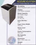 Mesin Penghancur Kertas Kozure KS-9700 H