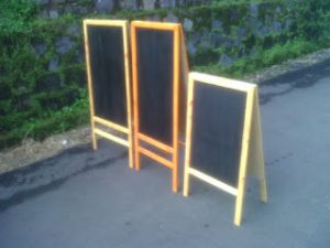 Blackboard Cafe Hanako 60 x 90 Stand Double Face