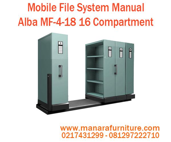 Toko jual Mobile File System Manual Alba MF-4-18 harga murah
