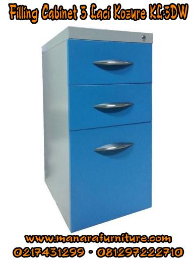 Harga Filling Cabinet 3 laci KOZURE-KL-3DW