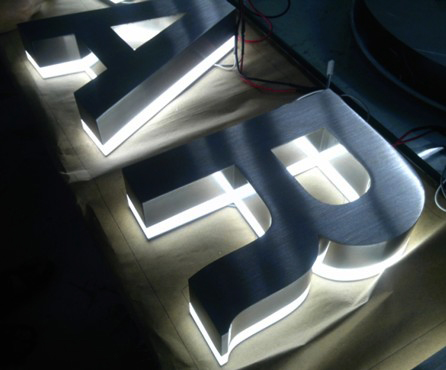 Letter Stainless Hairline Backlight