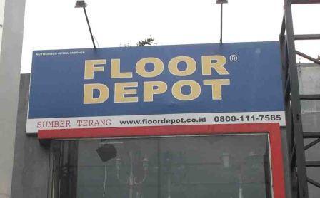 jasa pembuatan papan nama Signboard floor
