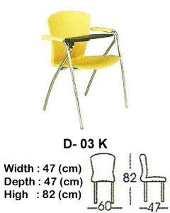 kursi kuliah indachi type d- 03 k