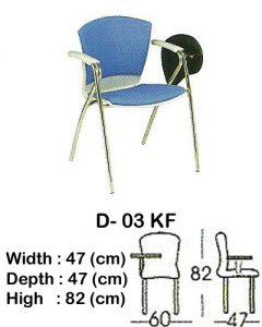 kursi kuliah indachi type d- 03 kf