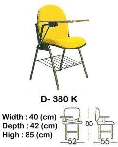 kursi kuliah indachi type d- 380 k