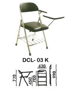 kursi kuliah indachi type dcl- 03 k