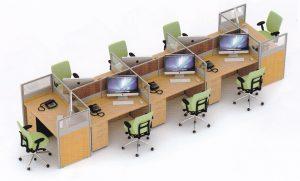 Partisi Kantor Uno 04 Series Slim 8 Staff