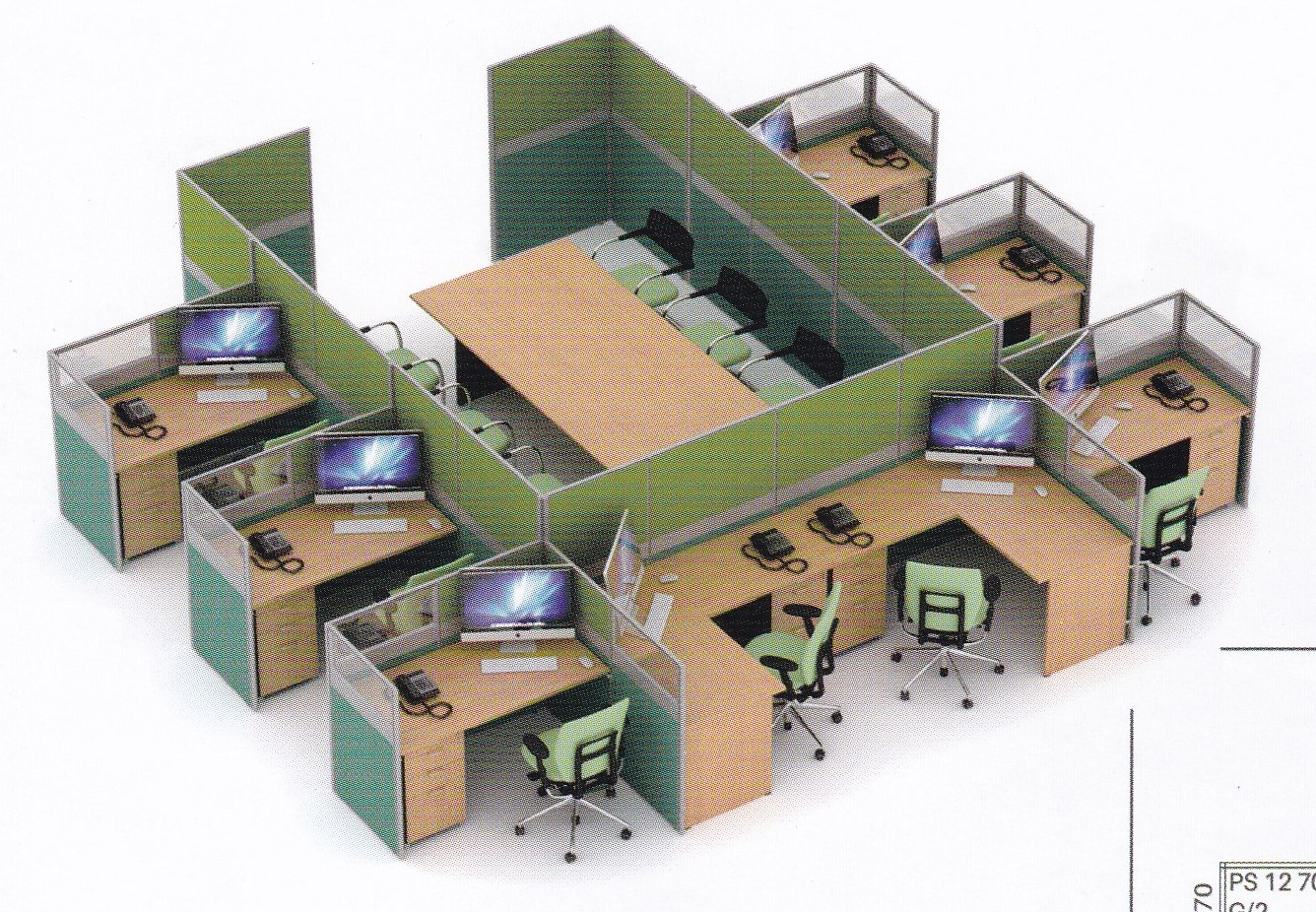 Partisi Kantor Uno 06 Series 06 8 Staff dan ruang Rapat