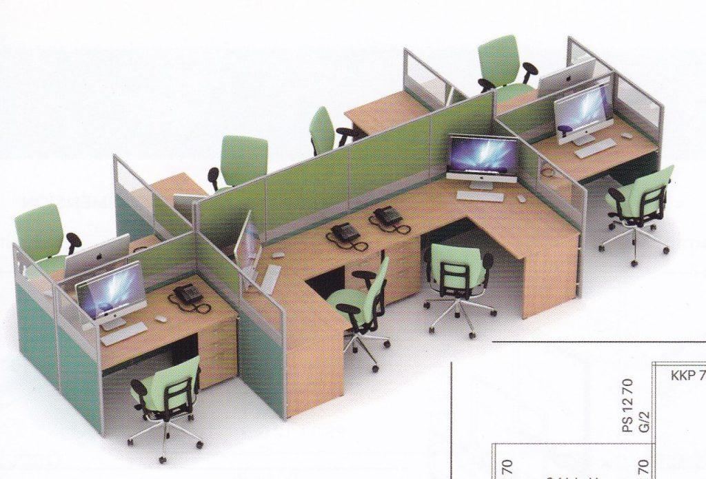 Partisi Kantor Uno 07 Series slim 8 Staff
