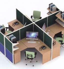 Partisi Kantor Uno 09 Series Premium 4 Staff,