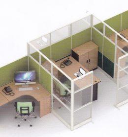 Partisi Kantor Uno 10 Series Premium 3 Staff
