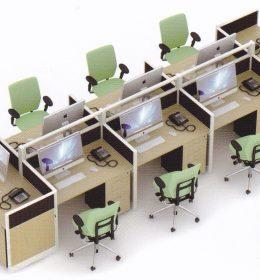 Partisi Kantor Uno 8 Staff