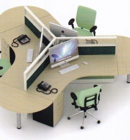 Partisi Kantor Uno 3 Staf