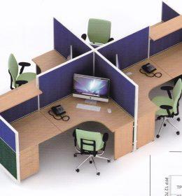 Partisi kantor uno 4 Staff ,