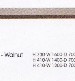 meja Bulat Indachi CTX-Walnut