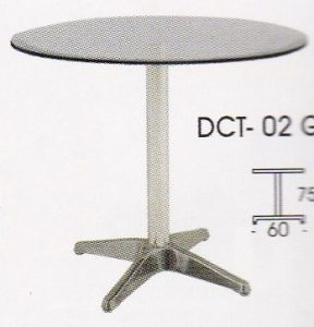 meja bulat indachi DCT-02 Glass
