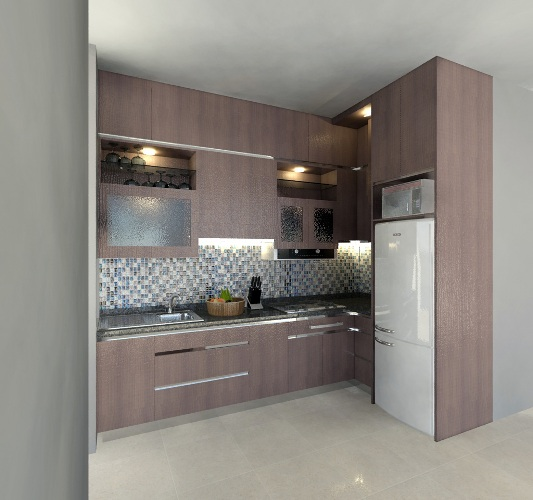 Jasa pembuatan kitchen set apartment