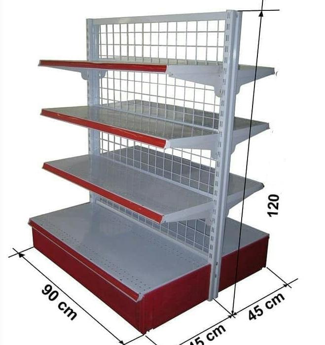 rak supermarket double 90x45x120